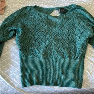 Open back slit sweater tunic